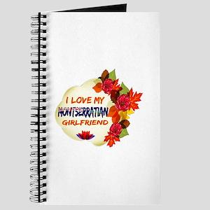 Montserratian Girlfriend Valentine design Journal