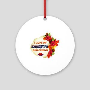 Montserratian Girlfriend Valentine design Ornament