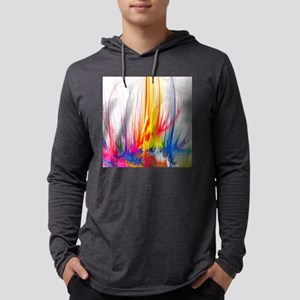 Paint Splatter Mens Hooded Shirt