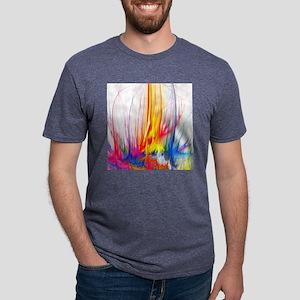 Paint Splatter Mens Tri-blend T-Shirt
