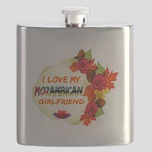 Mozambican Girlfriend Valentine design Flask