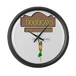 Hooligans Pub - No Shenanigans Large Wall Clock