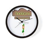 Hooligans Pub - No Shenanigans Wall Clock