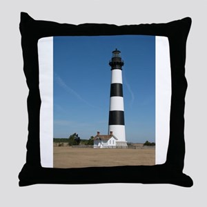Bodie Island Lighthouse Outer Banks NC Throw Pillo
