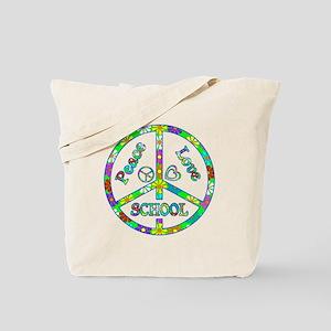 Peace Love School Tote Bag