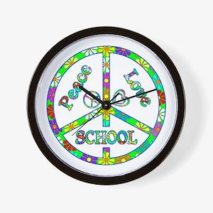 Peace Love School Wall Clock