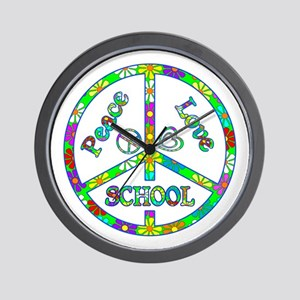 Peace Love School Wall Clock