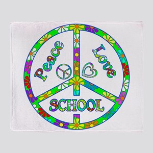 Peace Love School Throw Blanket