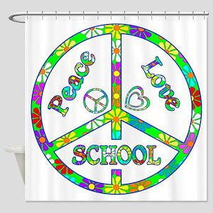 Peace Love School Shower Curtain