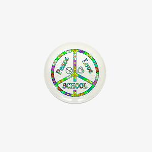 Peace Love School Mini Button