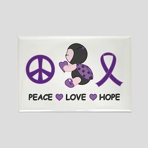 Ladybug Peace Love Hope Rectangle Magnet