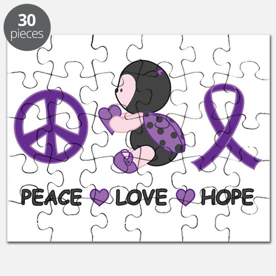 Ladybug Peace Love Hope Puzzle
