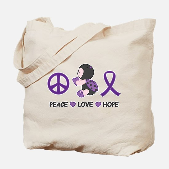 Ladybug Peace Love Hope Tote Bag