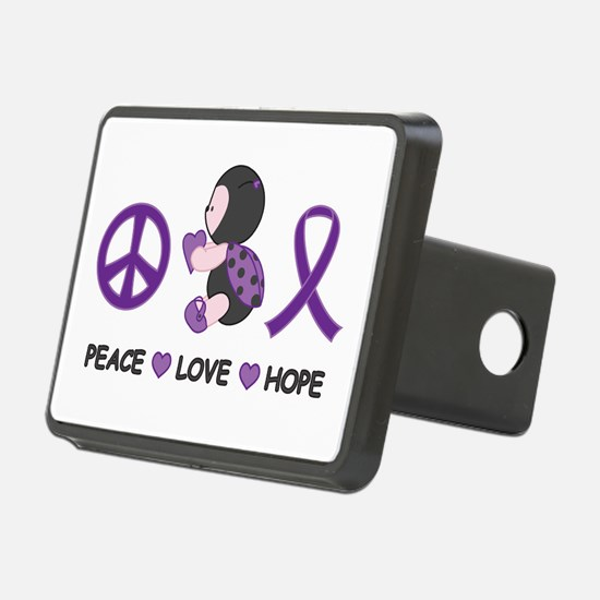 Ladybug Peace Love Hope Hitch Cover