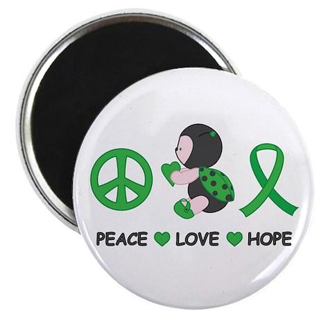 "Ladybug Peace Love Hope 2.25"" Magnet (100 pack)"