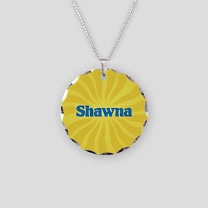 Shawna Sunburst Necklace Circle Charm