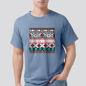 Aztec Pattern Mens Comfort Colors Shirt