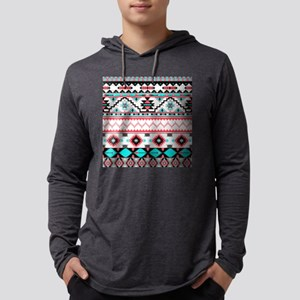 Aztec Pattern Mens Hooded Shirt