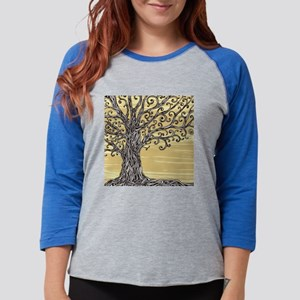 Tree Art Womens Baseball Tee