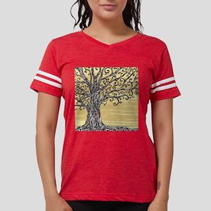 Tree Art Womens Football Shirt