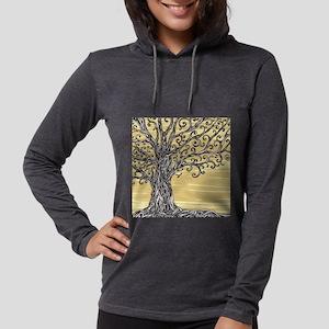 Tree Art Womens Hooded Shirt
