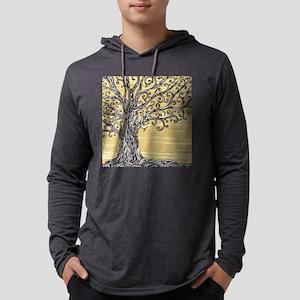 Tree Art Mens Hooded Shirt