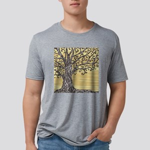 Tree Art Mens Tri-blend T-Shirt