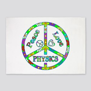 Peace Love Physics 5'x7'Area Rug