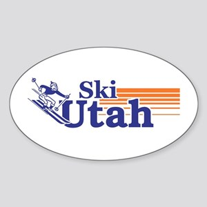 Ski Utah (male) Oval Sticker