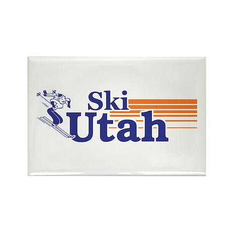 Ski Utah (female) Rectangle Magnet