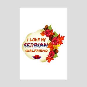 Serbian Girlfriend Valentine design Mini Poster Pr