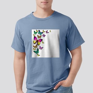 Colorful Butterfly Mens Comfort Colors Shirt