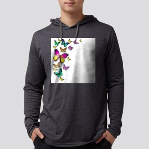 Colorful Butterfly Mens Hooded Shirt