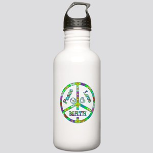 Peace Love Math Stainless Water Bottle 1.0L