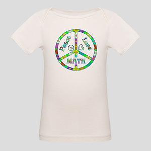 Peace Love Math Organic Baby T-Shirt