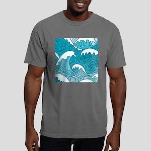 Ocean Waves Mens Comfort Colors Shirt