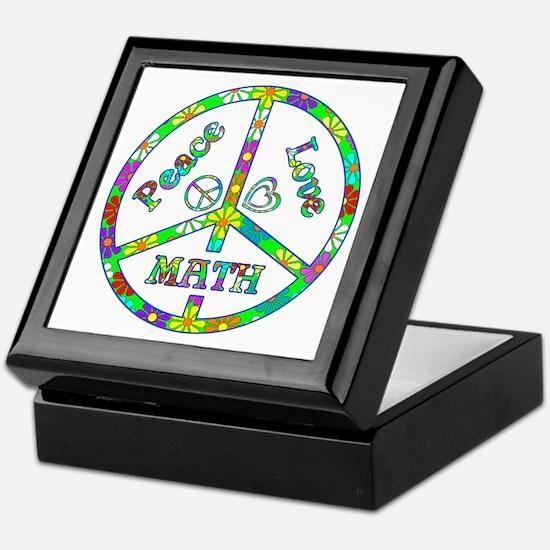 Peace Love Math Keepsake Box