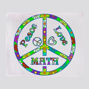 Peace Love Math Throw Blanket