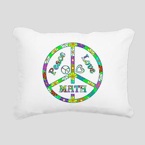 Peace Love Math Rectangular Canvas Pillow