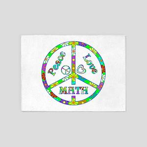 Peace Love Math 5'x7'Area Rug