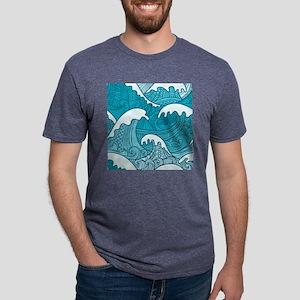 Ocean Waves Mens Tri-blend T-Shirt