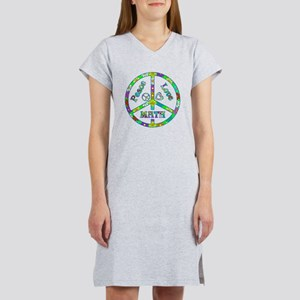 Peace Love Math Women's Nightshirt