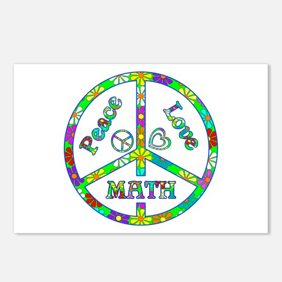 Peace Love Math Postcards (Package of 8)
