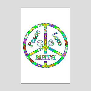 Peace Love Math Mini Poster Print