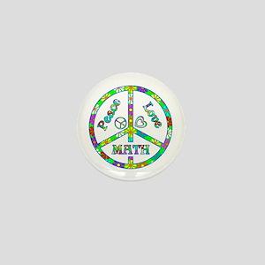 Peace Love Math Mini Button