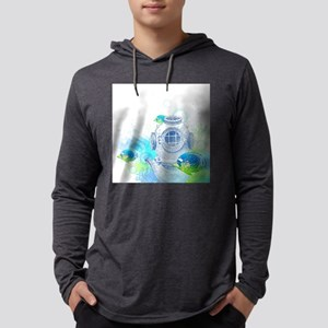 Deep Sea Diver Mens Hooded Shirt
