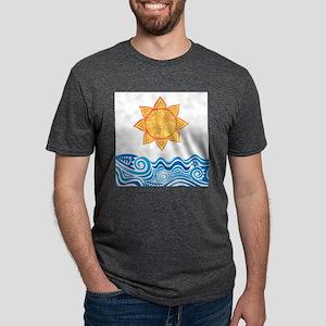 Sun and Sea Mens Tri-blend T-Shirt