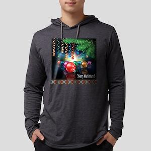 Merry Christmas Mens Hooded Shirt