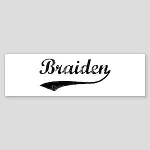 Vintage: Braiden Bumper Sticker