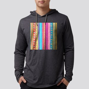 Colorful Stripes Mens Hooded Shirt